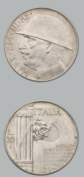 20 Lire. 1928. kM. 70 Superbe.