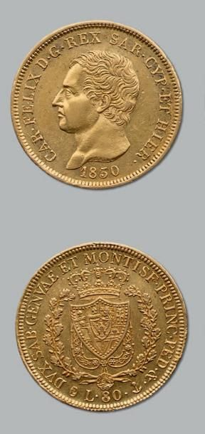 80 Lire or. 1830. Gênes. Fr. 1133. TTB à...