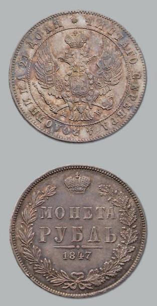 Rouble. 1847. C. 168.1. Superbe. RUSSIE Nicolas...