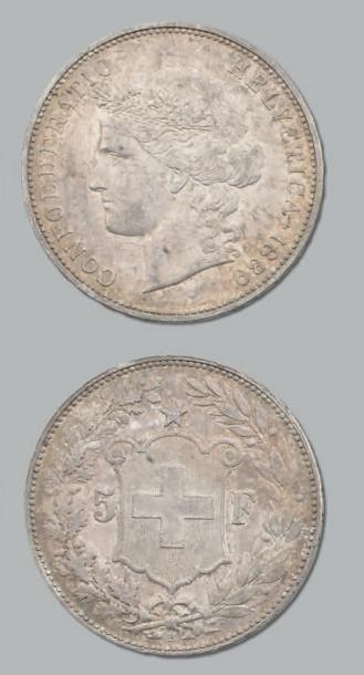 5 Francs. 1889B. kM. 34. TTB à superbe. ...