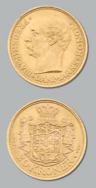 20 Couronnes: 2 exemplaires. 1910 et 1913....