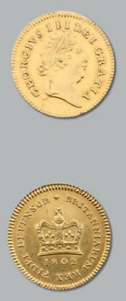 George III: Tiers de guinée, 1802 et Demi...