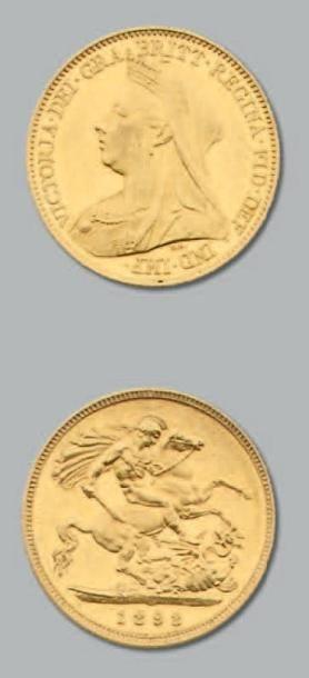 George III: Demi souverain, 1826. Victoria:...