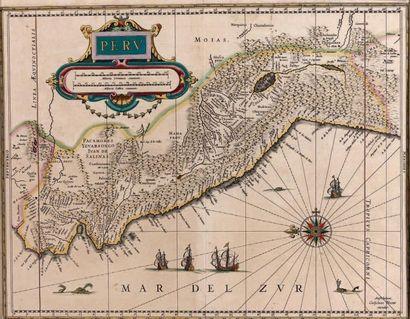 Carte du Pérou par G. Blaeuw, belle épreuve...