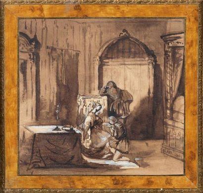 Attribué à Adrien DAUZAT (Bordeaux, 1804 - Paris, 1868)