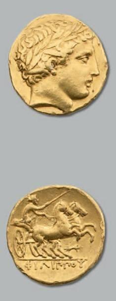 Statère d'or. 8,52 g. Pella. Frappé sous...