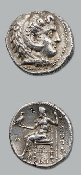 Tétradrachme. 16,98 g. Babylone. Tête d'Héraclès...