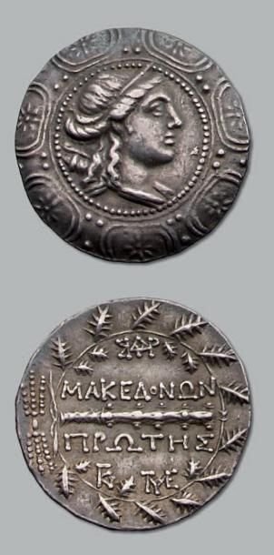 Tétradrachme (158-149 av. J.-C.). 16,87 g....