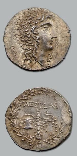 Tétradrachme. 16,86 g. Tête cornue d'Alexandre...