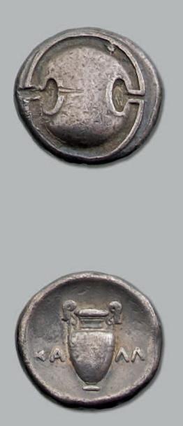 Statère (371-338 av. J.-C.). 11,96 g. Bouclier...