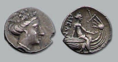 Tétrobole (196-168 av. J.-C.). 2,35 g. Tête...