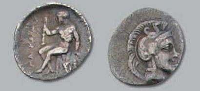 Diobole (235-228 av. J.-C.). 0,92 g. Tête...