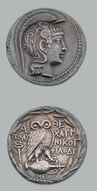 Tétradrachme (186-147 av. J.-C.). 16,80 g....