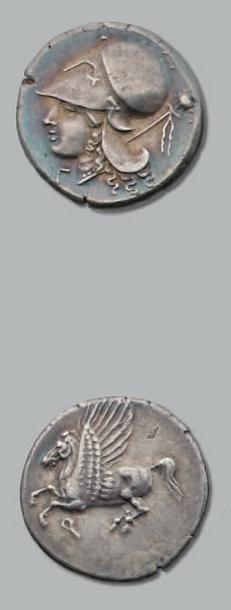Statère (350-306 av. J.-C.). 8,59 g. Tête...