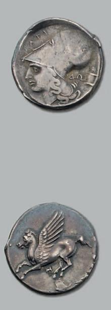 Statère (300-250 av. J.-C.). 8,31 g. Tête...