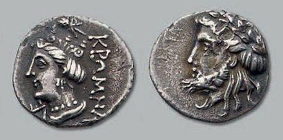 Tétrobole. 3,42 g. Tête laurée de Zeus à...