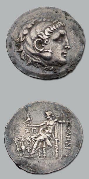 Tétradrachme au type d'Alexandre III de Macédoine....