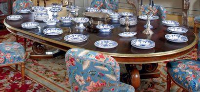 Grande table de salle à manger en palissandre,...
