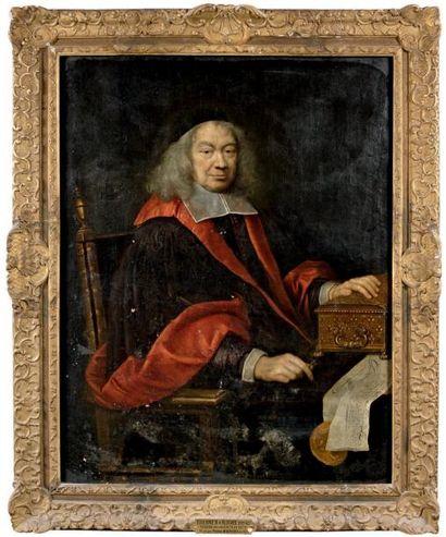 Atelier de Pierre MIGNARD (1612-1695) Portrait d'Etienne III, marquis d'Aligre (1592-1677)...