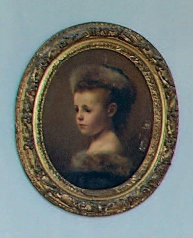 Antonine de MUN, duchesse d'Ursel (1849-1931) Portrait d'Alexandrine de Mun, enfant...