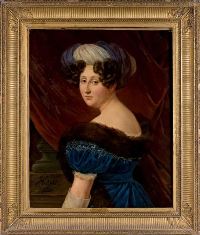 Henri-Joseph HESSE (1781-1849) Portrait d'Etiennette d'Aligre, marquise de Pomereu...