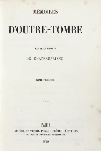 CHATEAUBRIAND (François-René de)