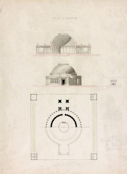 École FRANÇAISE du début du XIXe siècle Projet pour un musée de sculptures Pierre...