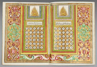 Abécédaire ottoman, signé Ahmad Nahîf, début...