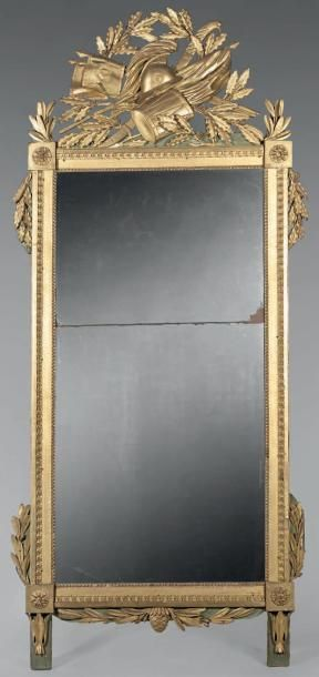 Grand miroir rectangulaire en deux parties...