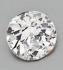 Diamant rond de taille ancienne sur papier...