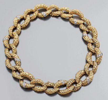 Paire de bracelets à maillons ovales (pouvant...