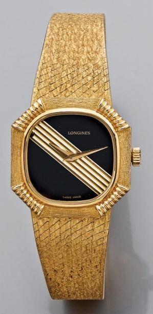Montre-bracelet de femme, le cadran octogonal...
