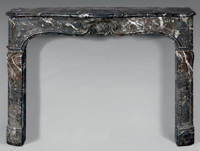 Cheminée en marbre gris Sainte-Anne