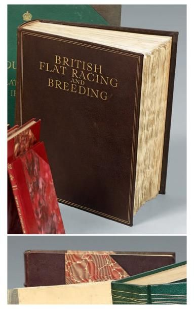 Lot de quatre volumes reliés: - Famous horses...