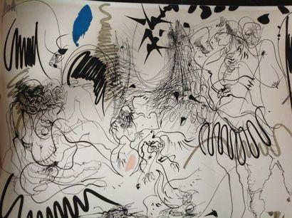 Lithographie Moretti signée et numérotée...