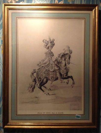 Gravure en noir. XIXème siècle.