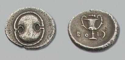 BEOTIE Thèbes (379-371 av. J.-C.) Hémidrachme....