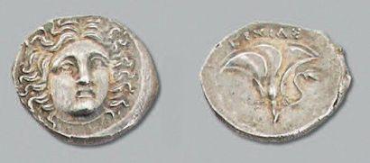 CARIE: Rhodes Tétrobole au type rhodien frappé...