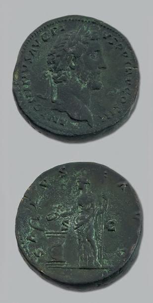 ANTONIN LE PIEUX (138-161) Sesterce (144)....