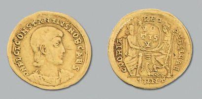 Constance Galle (351-354) Solidus. Nicomédie....