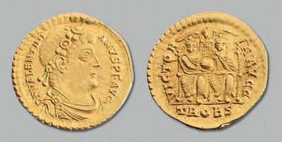 Valentinien 1er (364-375) Solidus. Trêves....