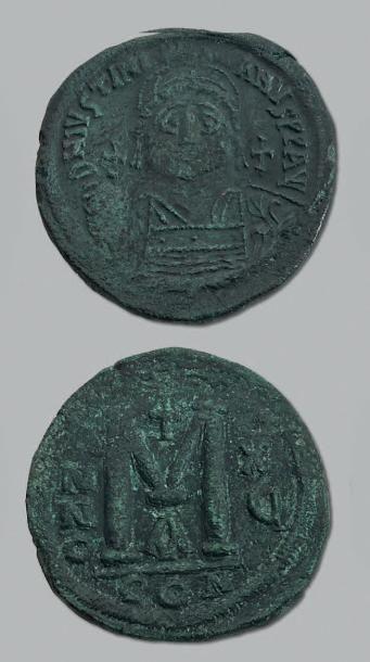 JUSTINIEN 1er (527-565) Follis. Constantinople...