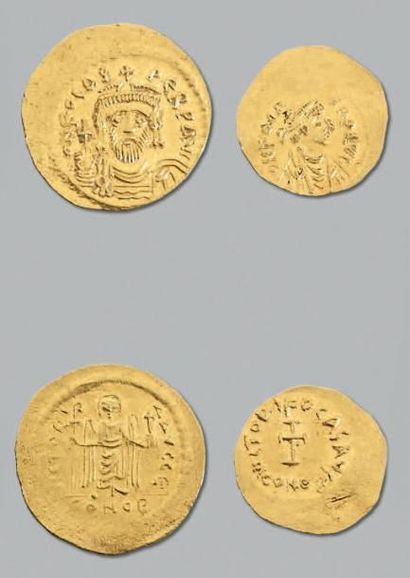 PHOCAS (602-610) Solidus. 4,48 g. Constantinople...