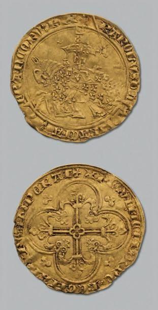 CHARLES V (1364-1380) Franc à cheval. D....