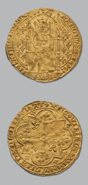 CHARLES V (1364-1380) Franc à pied. D. 360. TTB.