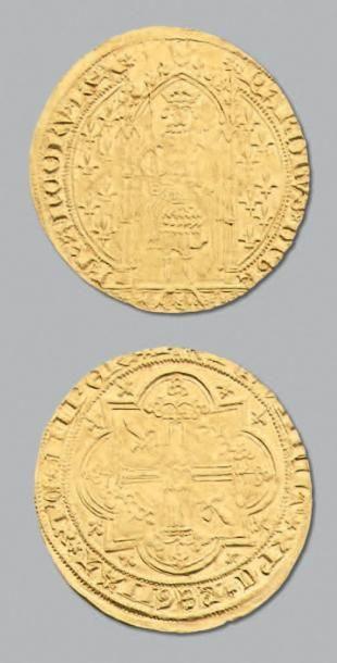 CHARLES V (1364-1380) Franc à pied. D. 360....