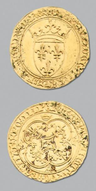 CHARLES VI (1380-1422) Écu d'or à la couronne....
