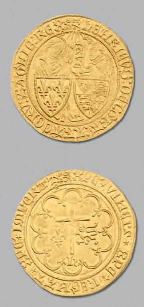 HENRI VI (1422-1453) Salut d'or. Rouen. D....