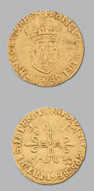 FRANÇOIS 1er (1515-1547) Écu d'or au soleil....