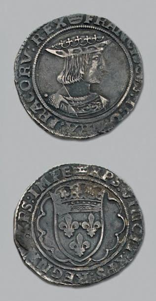 FRANÇOIS 1er (1515-1547) Teston, 2e type....